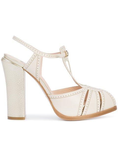 Fendi Open-toe Embroidered Sandals - Farfetch