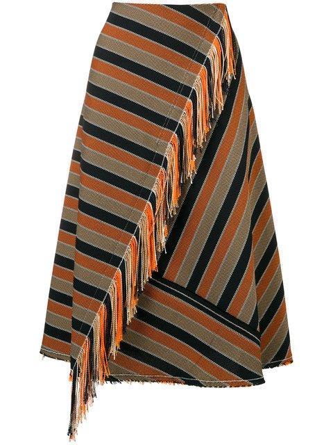 Golden Goose Deluxe Brand A-line Striped Skirt - Farfetch