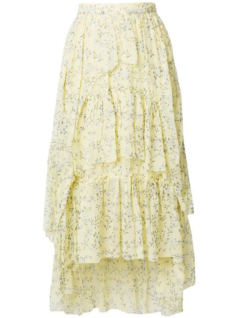 Ulla Johnson Ruffled Floral Skirt - Farfetch