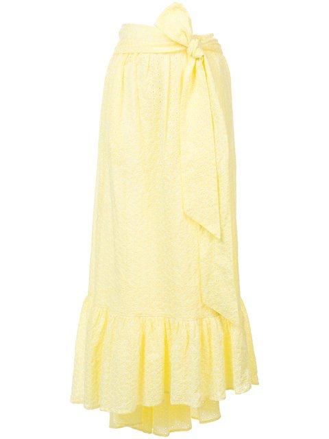 Lisa Marie Fernandez Nicole Eyelet Midi Skirt - Farfetch