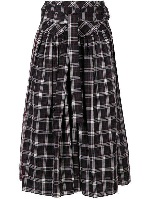 Marc Jacobs Plaid Belt Skirt - Farfetch