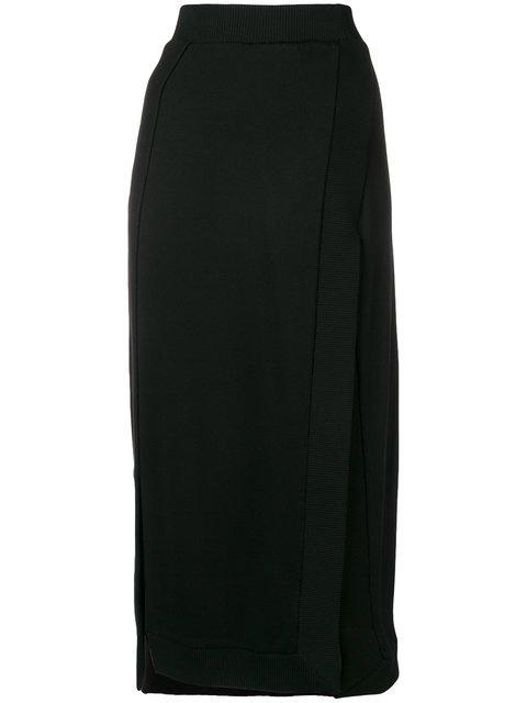 Paco Rabanne Stretch Front Slit Skirt - Farfetch