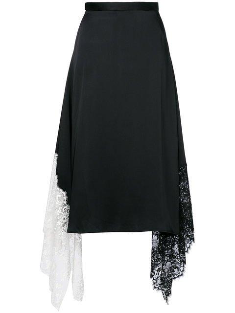 Christopher Kane Lace Trim Satin Skirt - Farfetch