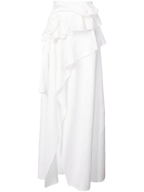 Delpozo Ruffle-trim Wrap Maxi Skirt - Farfetch