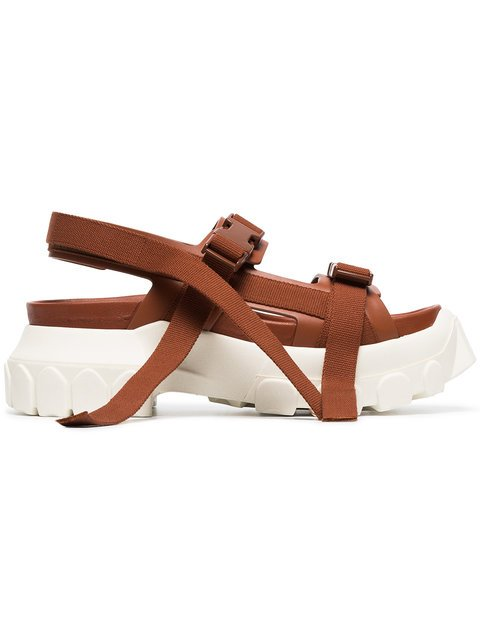 Rick Owens Brown Sisyphus Leather Hiking Sandals - Farfetch