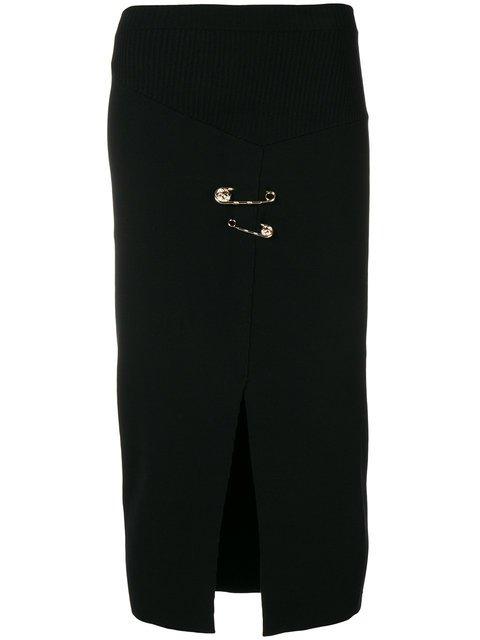 Versus Safety Pin Midi Wrap Skirt - Farfetch