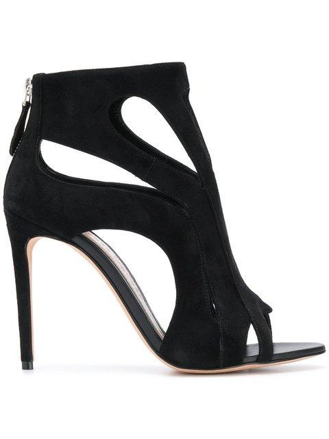 Alexander McQueen Zipped Open-toe Sandals - Farfetch