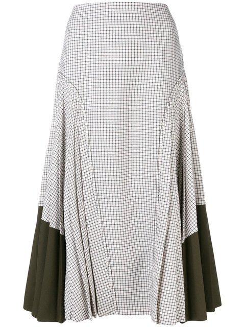 Fendi Check Midi Skirt - Farfetch