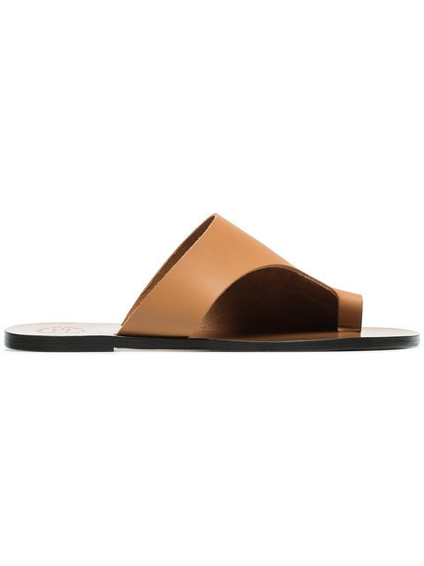 Atp Atelier Brown Rosa Cut Out Leather Sandals - Farfetch