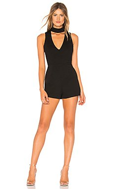 Ollie Choker V Neck Romper                                             by the way.
