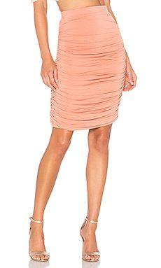 Tatiana Ruched Midi Skirt                                             by the way.