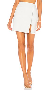 Melissa Zip Up Faux Leather Mini Skirt                                             by the way.
