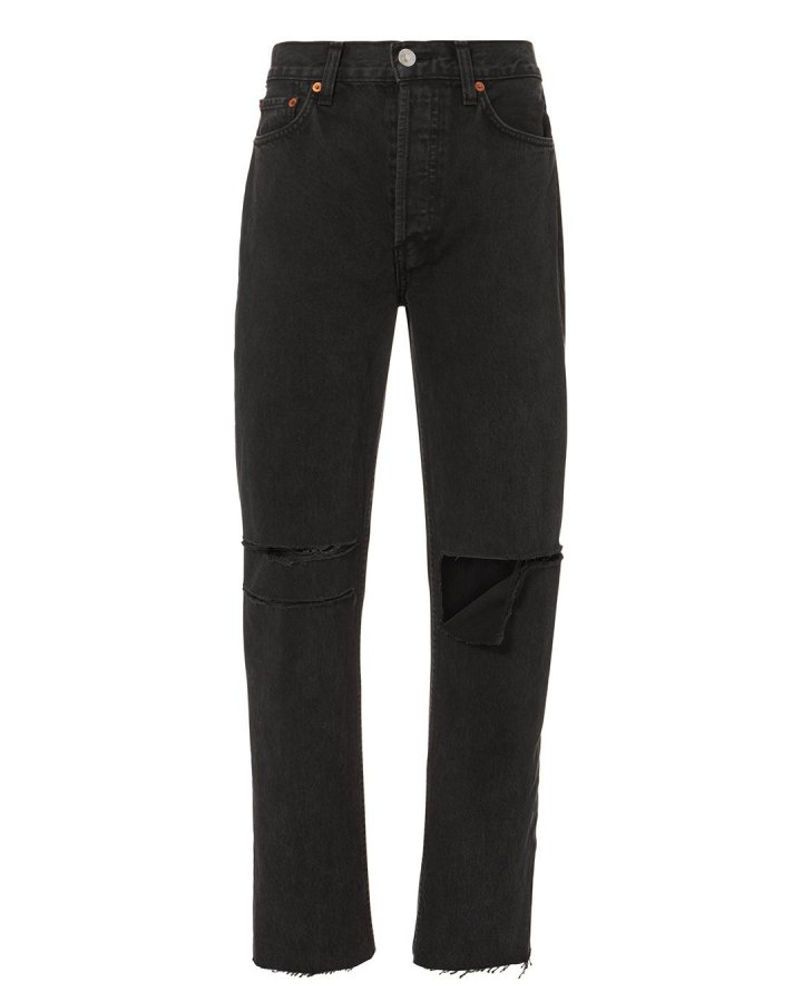 Black Originals Stove Pipe Ripped Jeans