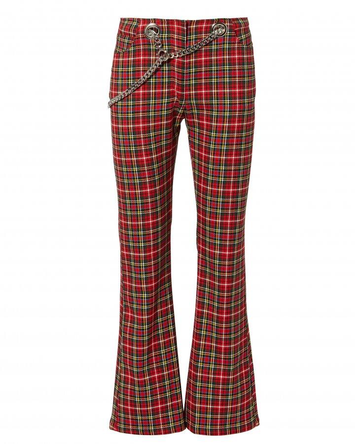 Morgan Plaid Flare Pants
