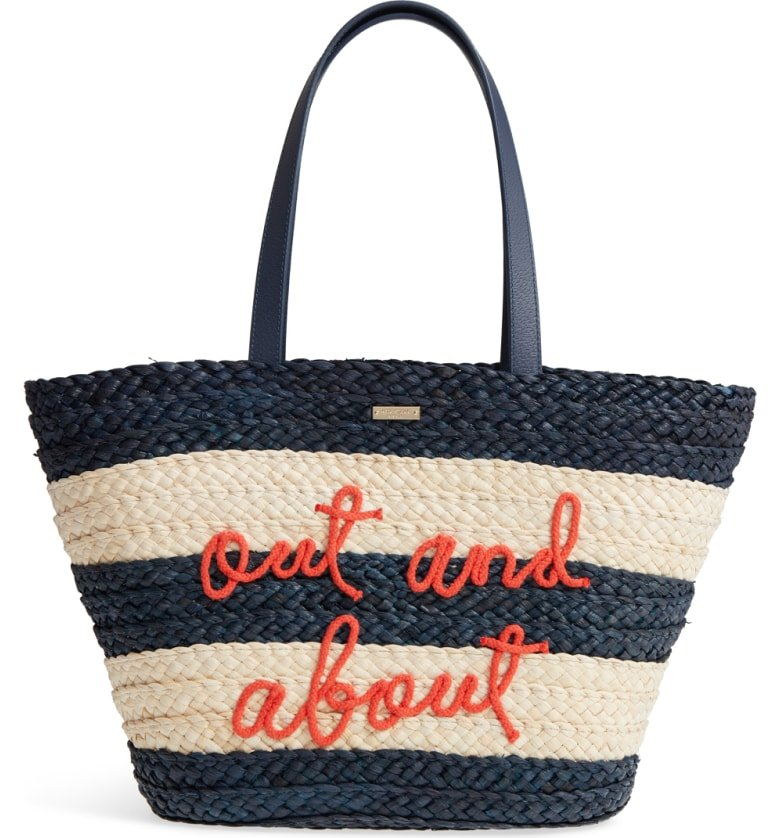 shore thing - out and about straw tote