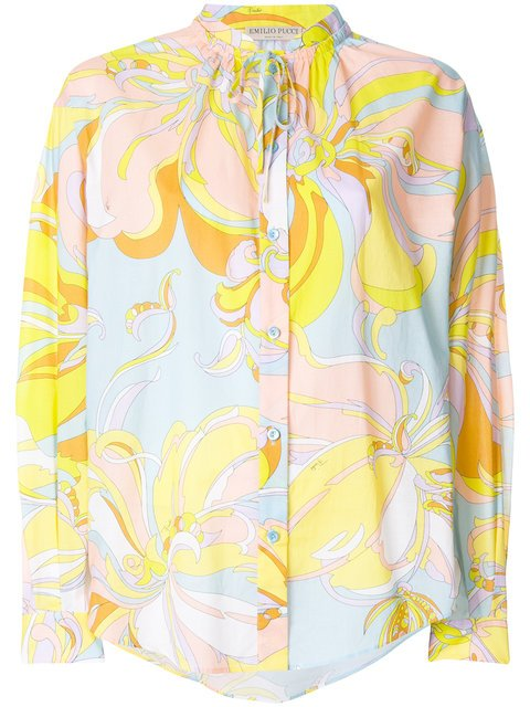 Emilio Pucci Printed Shift Blouse - Farfetch