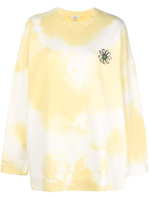 Ganni Oversized Tie-dye Sweatshirt - Farfetch