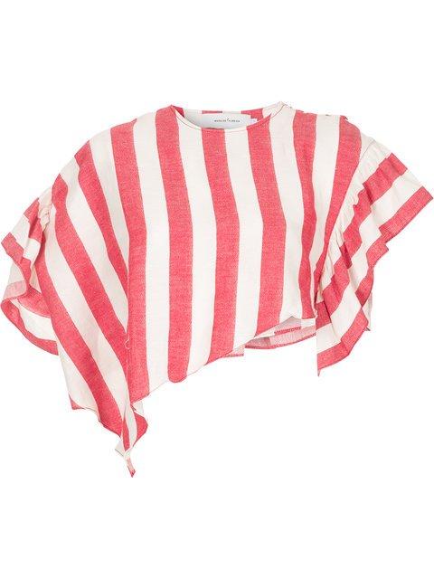 Marques\'almeida Asymmetric Striped Cropped Top - Farfetch