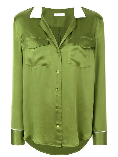 Equipment Contrast Collar Shirt  - Farfetch