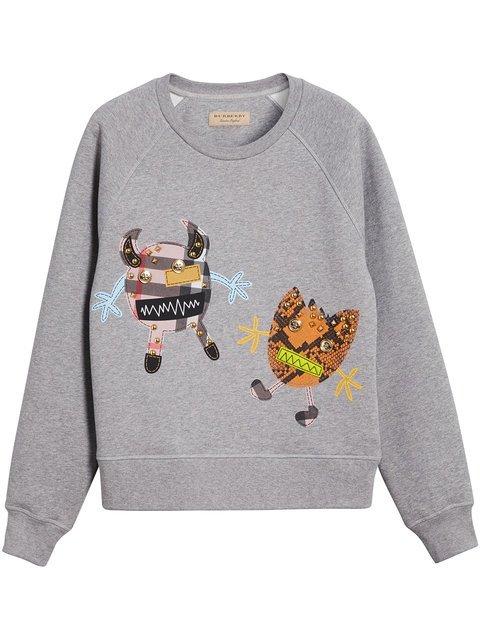 Burberry Creature Motif Jersey Sweatshirt - Farfetch