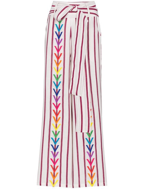 All Things Mochi Embroidered Mariam Wide Leg Trousers - Farfetch