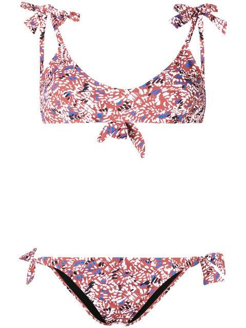 Emmanuela Swimwear Lulu Print Bow Tie Bikini - Farfetch
