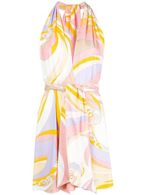 Emilio Pucci Printed Belted Mini Dress - Farfetch