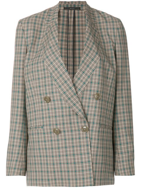 Paul Smith Checked Double-breasted Jacket - Farfetch