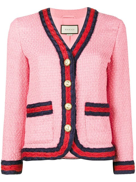 Gucci Slim Fit Blazer With Contrasting Piping - Farfetch
