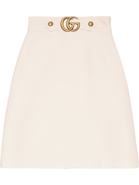 Gucci Crêpe Wool Silk Skirt - Farfetch