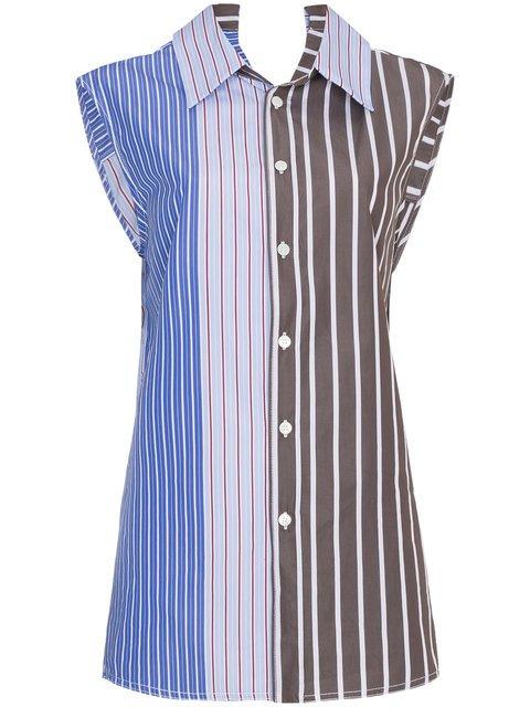 Marni Striped Sleeveless Blouse - Farfetch