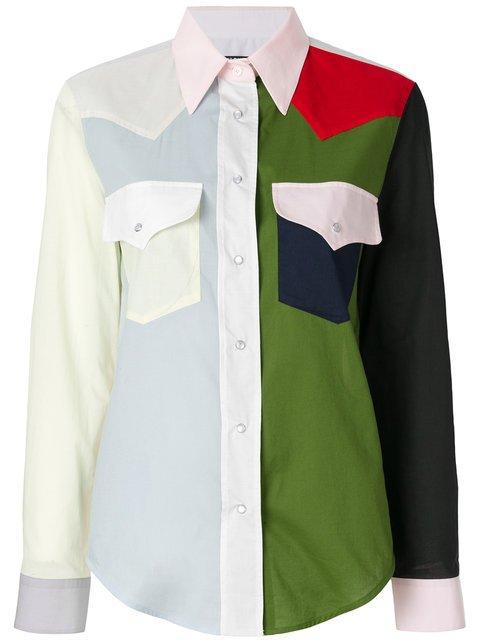 Calvin Klein 205W39nyc Colour-block Western Shirt - Farfetch
