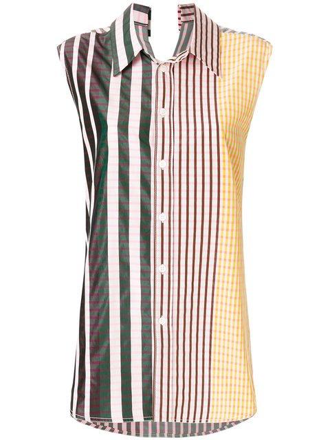 Marni Striped Sleeveless Shirt - Farfetch