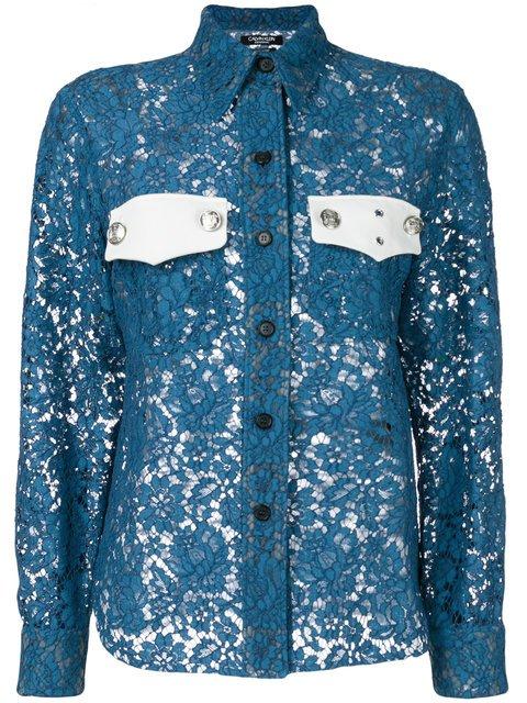 Calvin Klein 205W39nyc Colour-block Lace Shirt - Farfetch