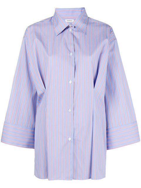Toteme Striped Kimono Sleeve Shirt - Farfetch