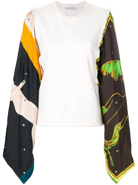 JW Anderson Printed Sleeves Top - Farfetch