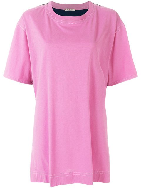 Marni Contrast Back Oversized T-shirt - Farfetch