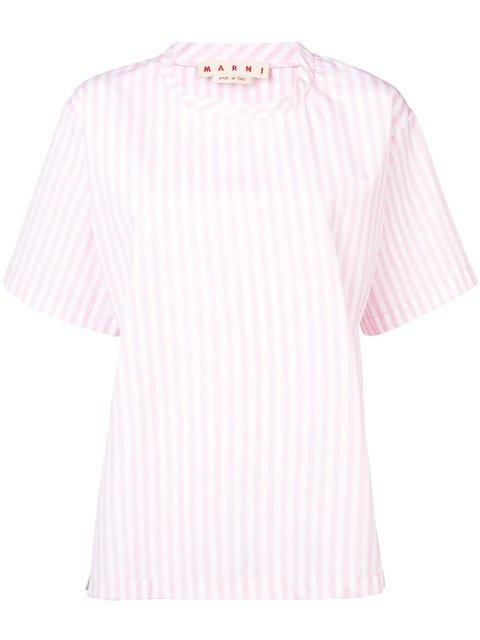 Marni Striped Oversized T-shirt - Farfetch