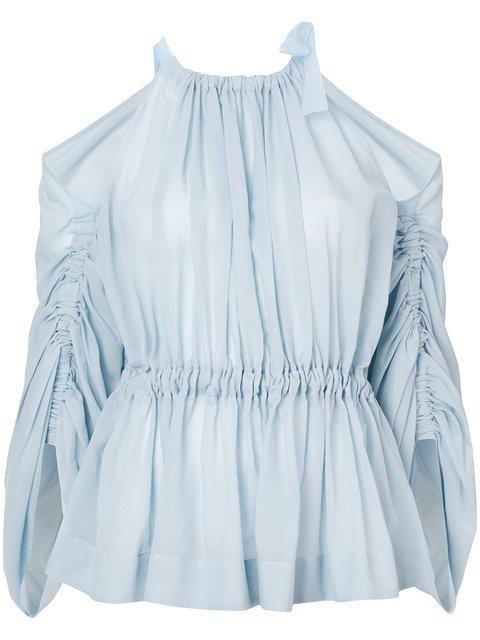 Fendi Cold-shoulder Belted Blouse - Farfetch
