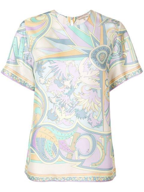 Emilio Pucci Printed T-shirt Blouse - Farfetch
