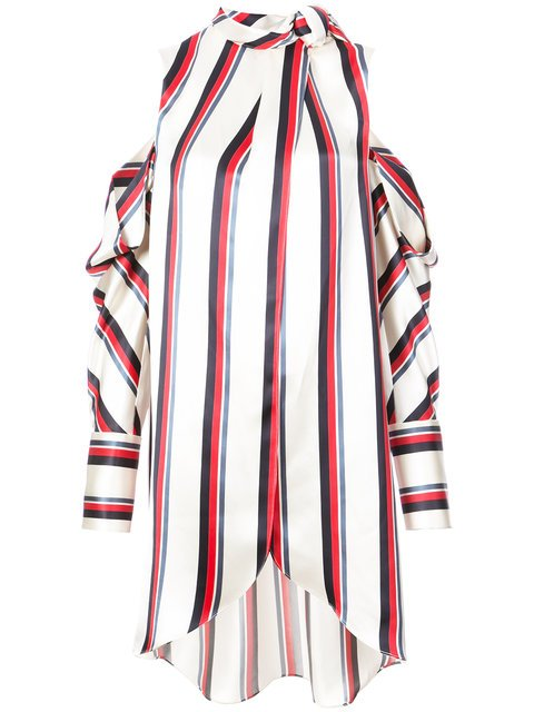 Monse Pussy Bow Striped Shirt - Farfetch