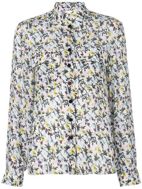Chloé High Neck Floral Print Shirt - Farfetch