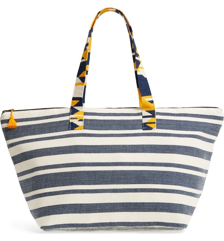 Global Iris Beach Bag