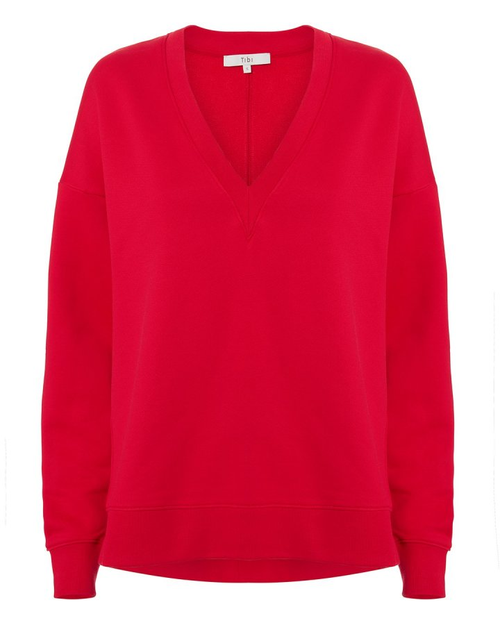 Slouchy Red Sweatshirt