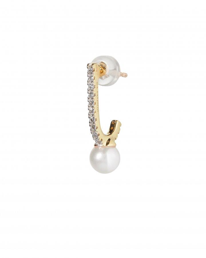 Pearl Inner Hook Earring