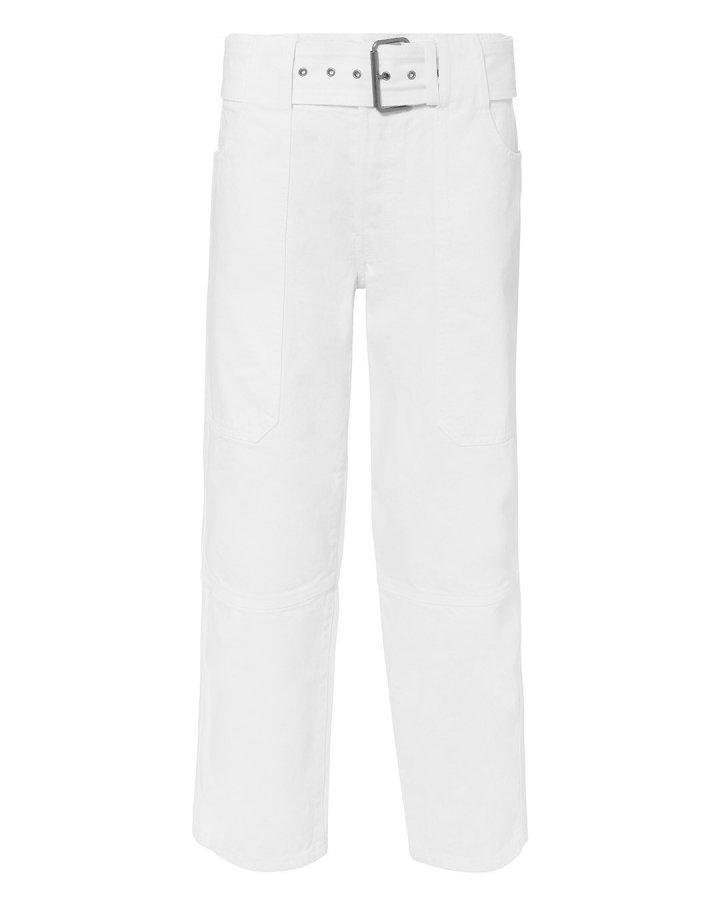 Utility White Jeans