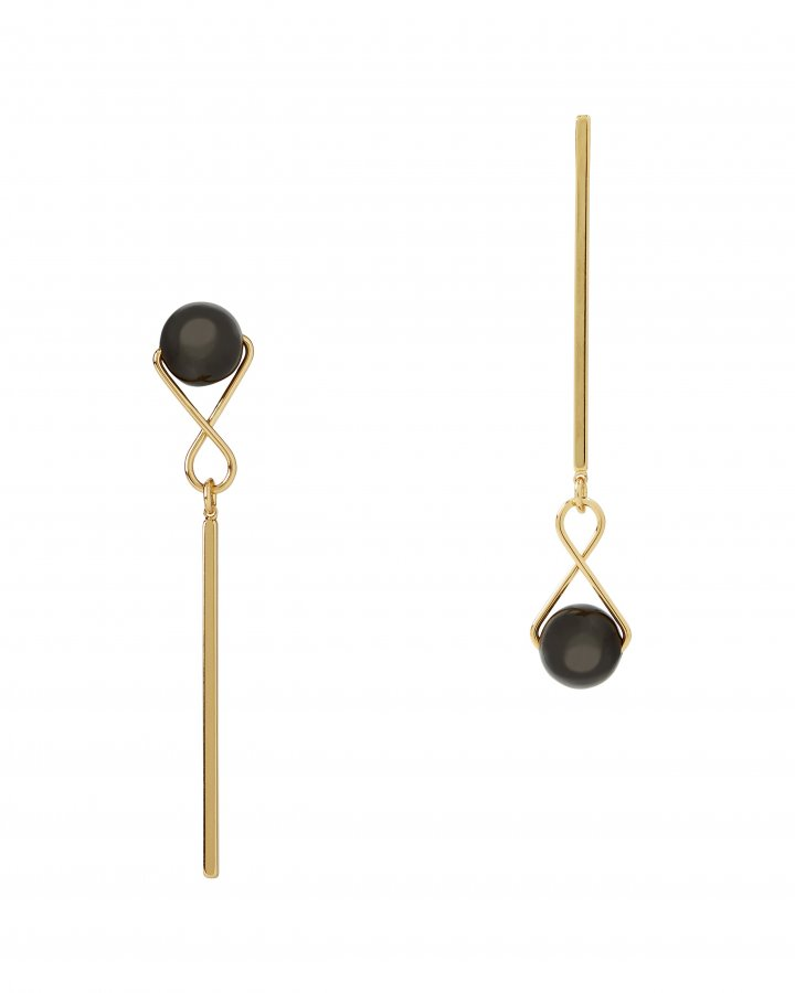 Mismatched Orb Drop Earrings