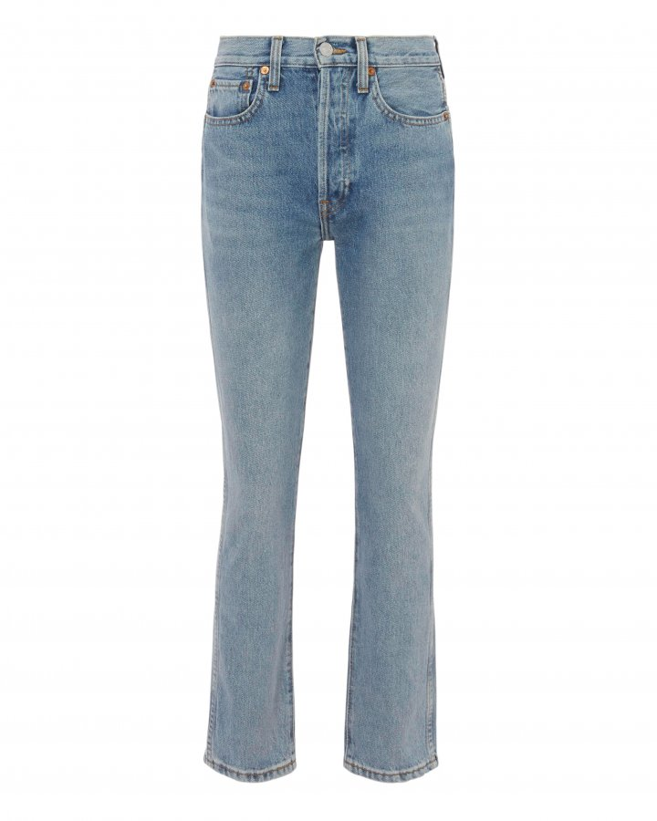 Double Needle Crop Jeans