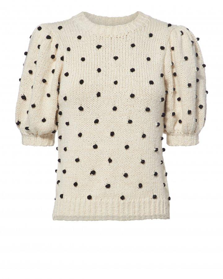 Bettine Polka Dot Embroidered Sweater