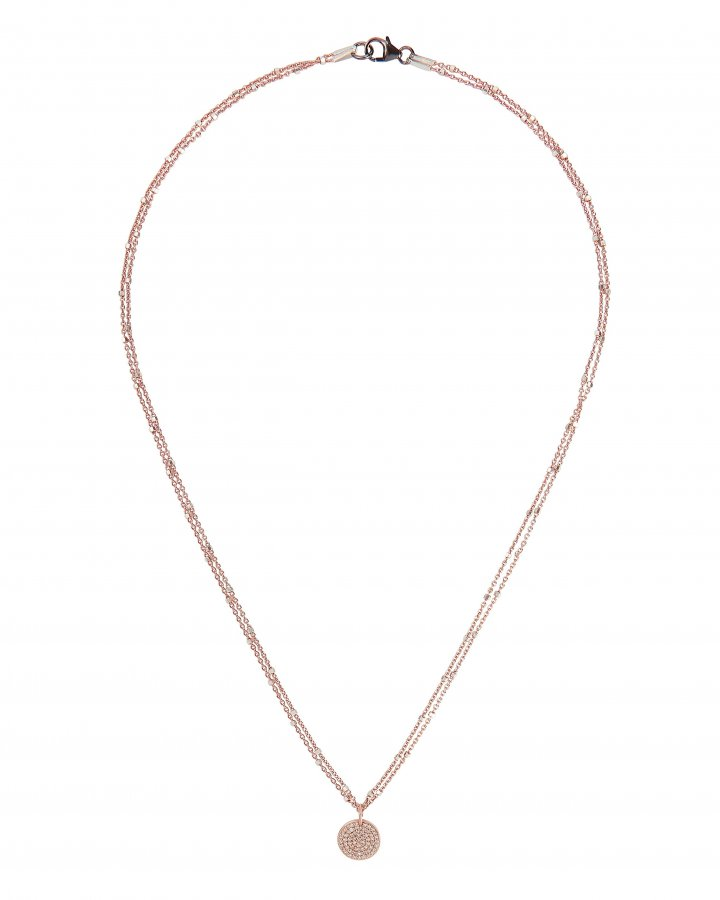 Coin Diamond Necklace